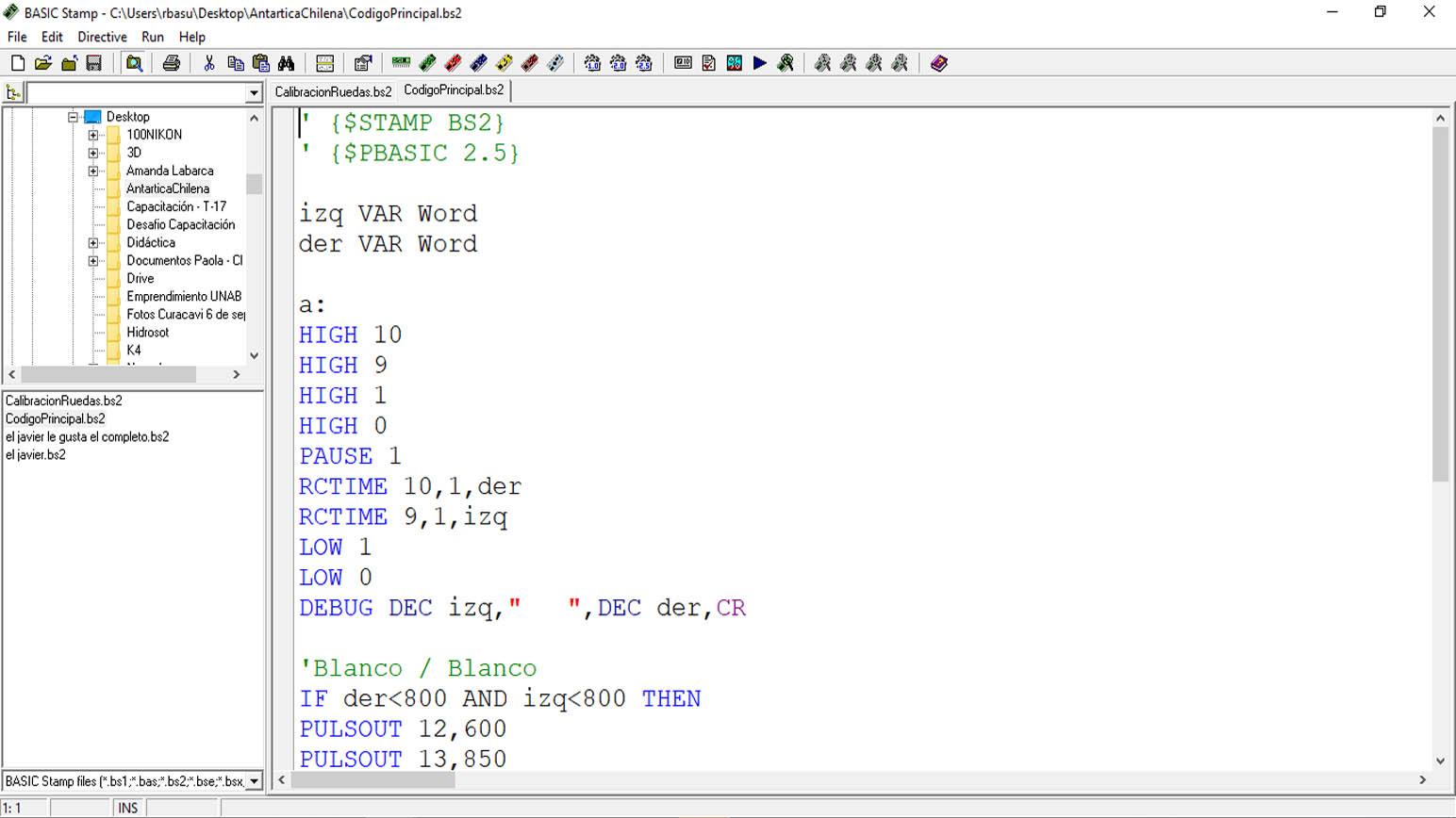 Programación T-17