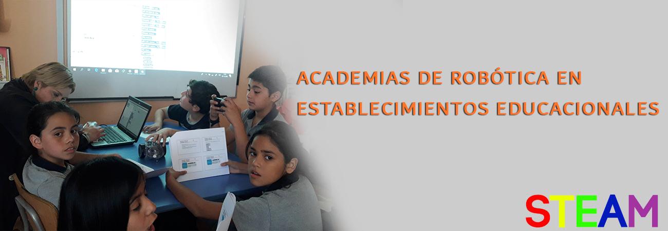 ACADEMIAS DE ROBÓTICA EN ESTABLECIMIENTOS EDUCACIONALES
